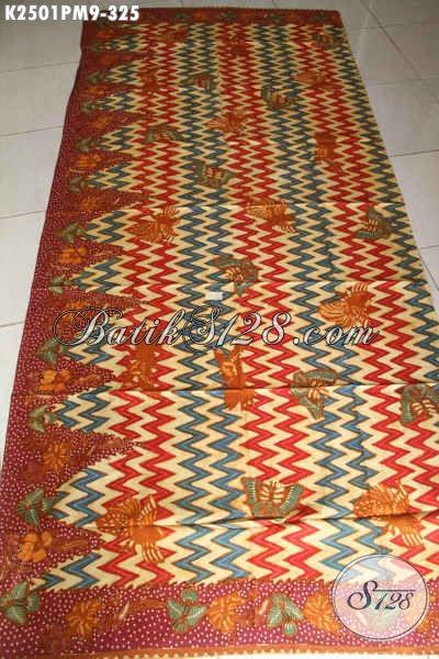 Kain Batik Keren Terbaru 2017, Batik Kombinasi Tulis Bahan Busana Wanita Dan Pria Kwalitas Premium Modis Untuk Pakaian Santai Dan Formal [K2501PM-240x110cm]