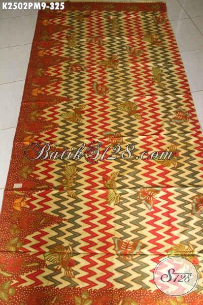 Kain Batik Bahan Blus, Batik Halus Untuk Pakaian Lengan Panjang, Hadir Dengan Warna Berkelas Motif Mewah Proses Kombinasi Tulis Hanya 300 Ribuan [K2502PM-240x110cm]