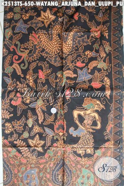 Kain Batik Mewah Dan Mahal Proses Tulis Soga, Batik Halus Motif Wayang Arjuna Dan Ulupi Putri Naga Exclusive Untuk Busana Pria Muda Dan Dewasa Harga 650K [K2513TS-240x110cm]