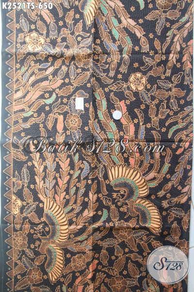 Batik Halus Premium, Kain Batik Solo Tulis Soga Motif Kupu Burung Bahan Pakaian Istimewa Wanita Dan Pria Untuk Tampil Mempesona