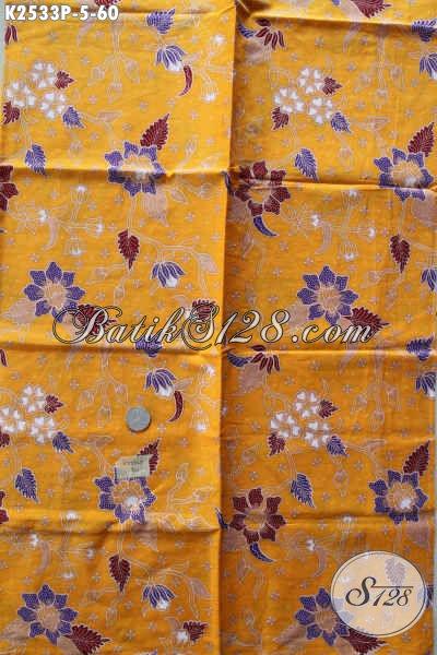 Kain Batik Kuning Motif Keren Dan Trendy, Batik Printing Solo Bahan Pakaian Wanita Masa Kini Untuk Tampil Cantik Maksimal