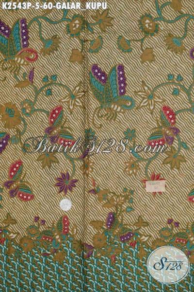 Batik Modern Klasik Motif Galar Kupu, Batik Printing Solo Elegan Pas Untuk Seragam Kerja Kantoran
