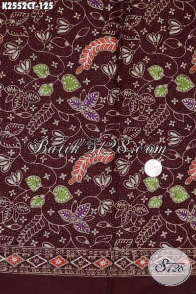 Batik Kain Warna Merah Hati, Batik Jawa Kwalitas Bagus Motif Terkini Proses Cap Tulis Di Jual Online 125K [K2552CT-200x110cm]