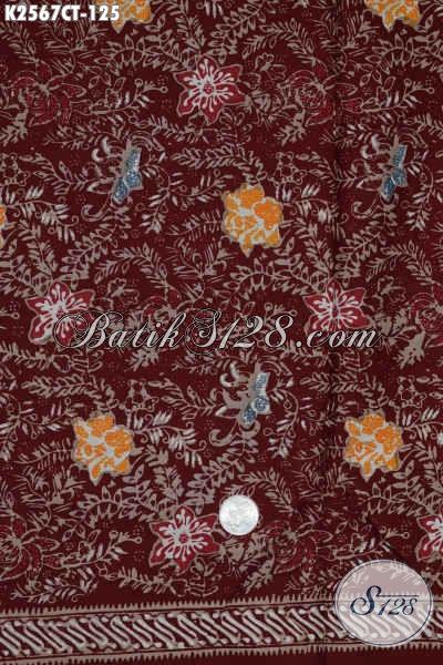 Batik Kain Halus Bahan Baju Lebaran, Batik Keren Untuk Busana Kerja Kwalitas Istimewa Harga Biasa Proses Cap Tulis [K2567CT-200x110cm]