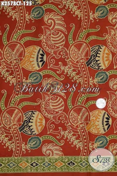 Batik Kain Istimewa Warna Cerah Motif Unik Dan Mewah Proses Cap Tulis, Batik Berkelas Buatan Solo Bikin Penampilan Lebih Mempesona [K2578CT-200x110cm]