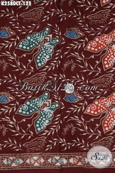 Produk Terkini Kain Batik Motif Kupu Bahan Busana Wanita Dan Pria Proses Cap Tulis Harga 125 Ribu
