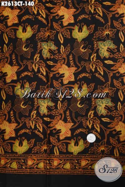 Batik Jawa Tengah Motif Bunga, Kain Batik Cap Tulis Yang Cocok Untuk Busana Atasan Wanita Penampilan Terlihat Beda