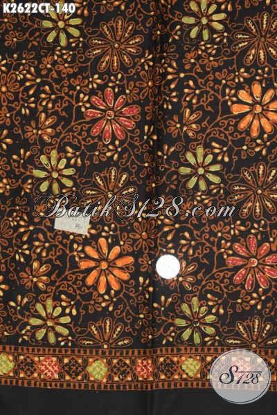 Kain Batik Bagus Murah, Batik Solo Istimewa Proses Cap Tulis, Bahan Pakaian Berkelas Motif Trendy Asli Solo [K2622CT-200x110cm]