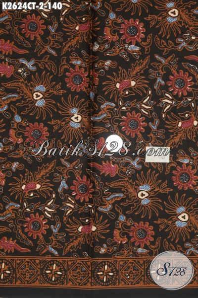 Batik Kain Bahan Baju Dress, Batik Modis Untuk Pakaian Wanita Proses Cap Tulis Harga Terjangkau [K2624CT-200x110cm]