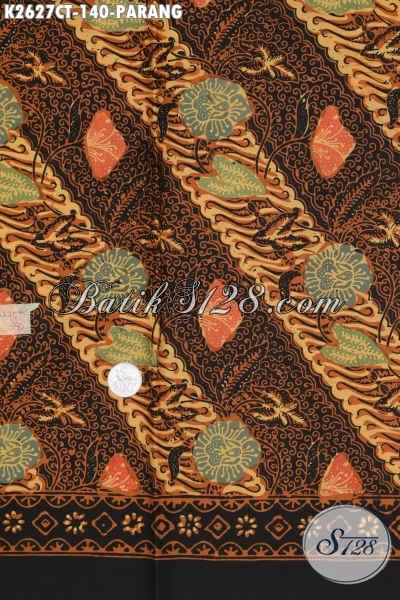 Batik Parang Buatan Solo, Batik Halus Dengan Kombinasi Motif Bunga Proses Cap Tulis Untuk Baju Kerja Dan Formal Tampil Berkelas [K2627CT-200x110cm]