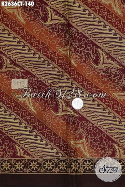 Kain Batik Halus Dan Istimewa, Batik Modern Bahan Baju Wanita Dan Pria Proses Cap Tulis Cuku 140 Ribu Saja [K2636CT-200x110cm]