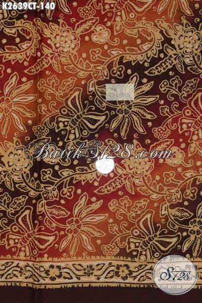 Batik Kain Bahan Busana Pria, Batik Halus Modis Proses Cap Tulis, Cocok Juga Untuk Pakaian Wanita [K2639CT-200x110cm]