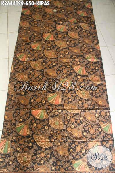 Kain Batik Premium Halus Mewah Berkelas Motif Burung Kipas, Batik Tulis Soga Bahan Busana Formal Kesukaan Pejabat Dan Executive