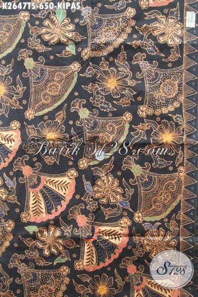 Kain Batik Premium Motif Burung Kipas, Batik Elegan Tulis Soga Asli Buatan Solo, Cocok Untuk Baju Kerja Dan Busana Kondangan Nan Mewah