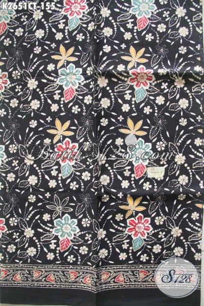 Jual Online Kain Batik Modern, Batik Halus Proses Cap Tulis Motif Bunga Pas Banget Untuk Dres Dan Blus Formal Maupun Santai [K2651CT-200x110cm]