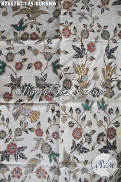 Toko Online Batik Jawa Tengah Terpercaya, Jual Kain Batik Motif Burung Proses Kombinasi Tulis Bahan Kemeja Pria Untuk Tampil Istimewa [K2657BT-240x110cm]