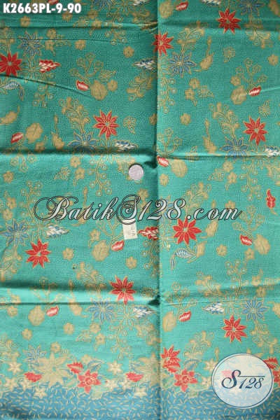 Kain Batik Modern, Batik Solo Produk Terkini Bahan Busana Wanita Untuk Tampil Mempesona Proses Printing Hanya 90 Ribu [K2663PL-240x110cm]