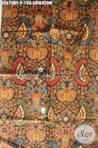 Batik Klasik Halus Kombinasi Tulis, Batik Solo Nan Berkelas Bahan Baju Formal Bikin Penampilan Menawan Dan Mempesona [K2673BT-240x105cm]