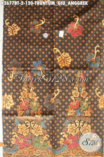 Batik Klasik Motif Truntum Giu Anggrek, Batik Solo Istimewa Proses Kombinasi Tulis Buat Pakaian Formal Pria Dan Wanita [K2677BT-240x105cm]