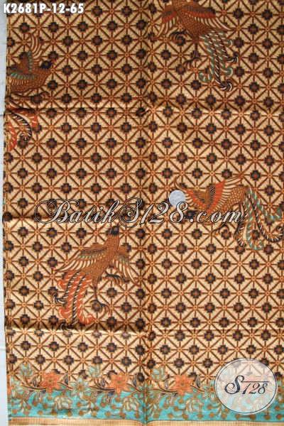 Batik Klasik Kwalitas Bagus Harga Murmer Proses Printing, Batik Kain Bahan Kemeja Pria Asli Buatan Solo [K2681P-200x110cm]