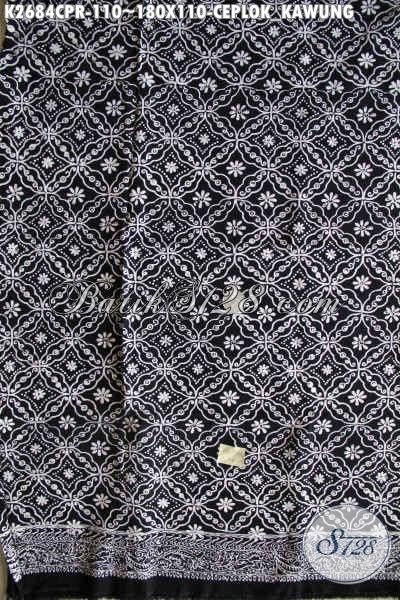 Kain Batik Elegan Motif Ceplok Kawung Proses Cap Bahan Paris, Cocok Untuk Baju Santai Dan Seragam Kerja Kantoran Kwalitas Bagus Harga 100 Ribuan [K2684CPR-180x110cm]