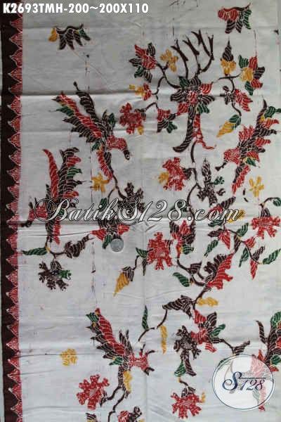 Sedia Kain Batik Jawa Nan Modis, Batik Halus Kwalitas Bahan Pakaian Pria Untuk Terlihat Tampan Mempesona [K2693TMH-200x110cm]