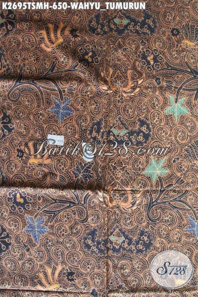 Batik Klasik Premium Istimewa, Kain Batik Mahal Proses Tulis Motif Wahyu Tumurun, Pas Banget Untuk Busana Formal [K2695TSMH-240x110cm]