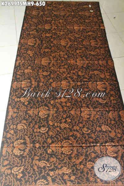 Batik Klasik Mewah Dari Solo, Kain Batik Halus Motif Bagus Banget Warna Elegan Proses Tulis Cocok Untuk Busana Kerja Formal [K2699TSMH-240x110cm]
