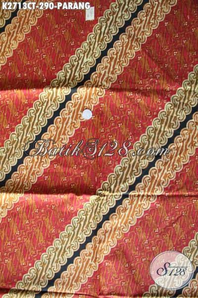 Di Jual Online Kain Batik Istimewa, Batik Halus Proses Cap Tulis Motif Parang Kwalitas Istimewa [K2713CT-240x110cm]