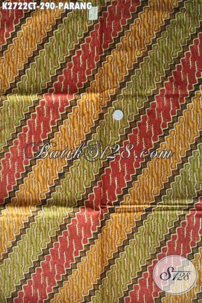 Kain Batik Cap Tulis Bahan Baju Berkelas, Batik Solo Terkini Motif Klasik Cocok Untuk Pakaian Kerja
