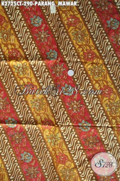 Kain Batik Bahan Blus, Batik Halus Motif Parang Mawar Proses Cap Tulis, Elegan Juga Untuk Kemeja Pria [K2725CT-240x110cm]
