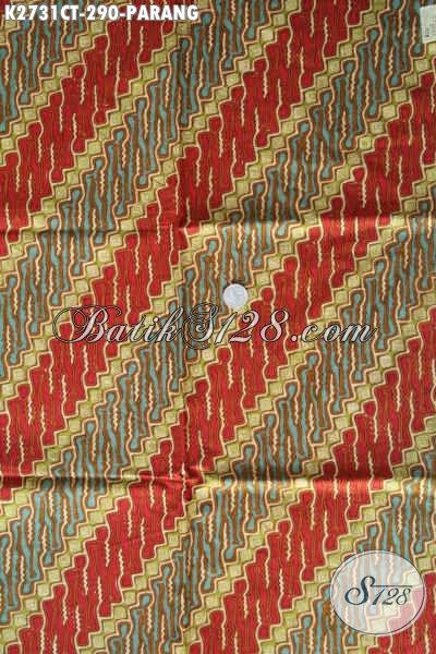 Batik Parang Klasik Halus Nan Istimewa, Batik Berkelas Motif Parang Asli Solo Proses Cap Tulis, Cocok Untuk Baju Kerja Formal [K2731CT-240x110cm]