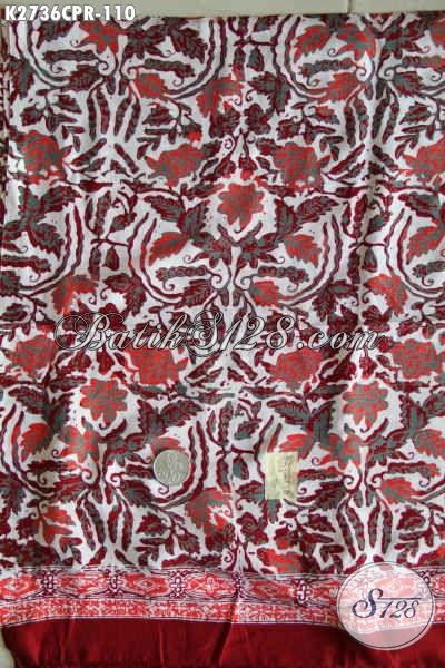 Produk Batik Solo Terbaru, Kain Batik Halus Bahan Paris Istimewa Untuk Pakaian Wanita Muda Dan Dewasa, Proses Cap [K2736CPR-180x110cm]