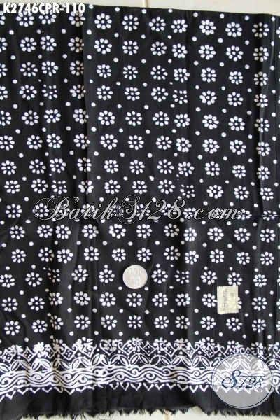 Kain Batik Monokrom Hitam Putih, Batik Paris Halus Buatan Solo Asli Proses Cap Di Jual Online 110K