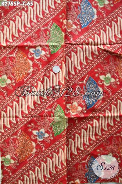 Batik Kain Warna Merah, Batik Halus Bahan Kemeja Cowok Dan Dress Wanita Tampil Mempesona