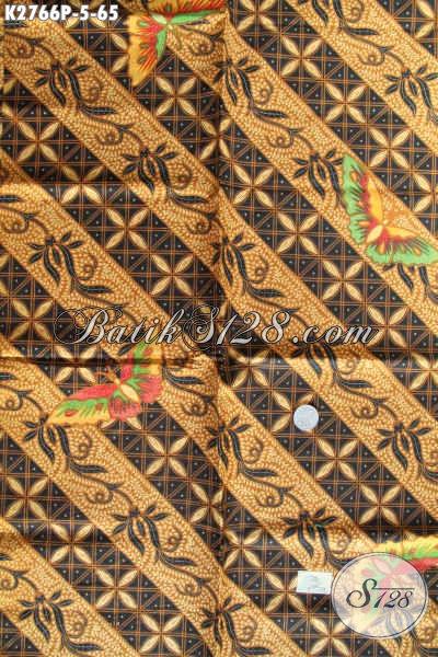 Jual Online Kain Batik Bahan Busana Pria Karir, Batik Solo Printing Halus Harga 60 Ribuan Saja [K2766P-200x110cm]