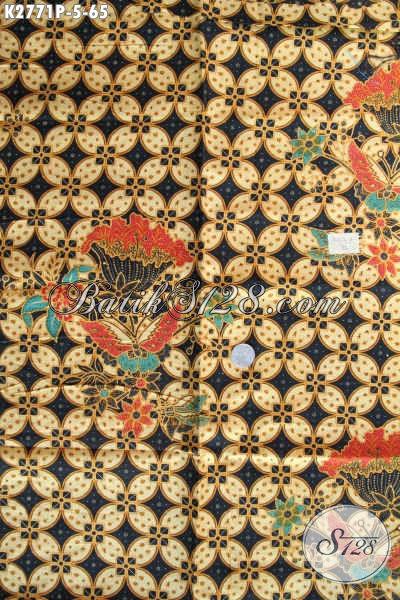 Kain Batik Solo Dengan Motif Klasik Nan ELegan, Batik Halus Proses Printing Elegan Untuk Busana Pria [K2771P-200x110cm]