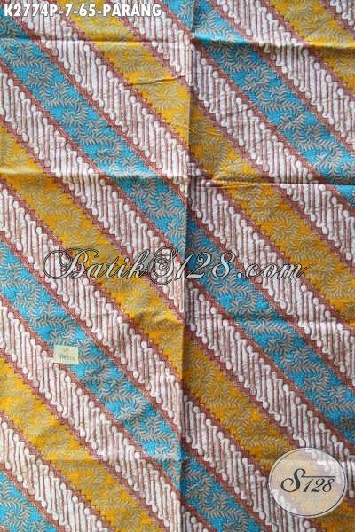 Kain Batik Printing Motif Parang Dengan Kombinasi Warna Modern Nan Berkelas, Cocok Untuk Busana Resmi