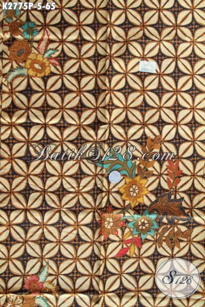 Batik Jawa Halus Buatan Solo, Kain Batik Klasik Elegan Cocok Untuk Kemeja Pria Proses Printing [K2775P-200x110cm]