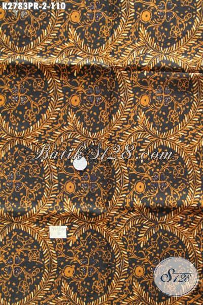 Kain Batik Motif Terkini, Batik Cap Sogan Buatan Solo Kwalitas Istimewa Bahan Paris Cocok Untuk Baju Formal [K2783PR-180x110cm]