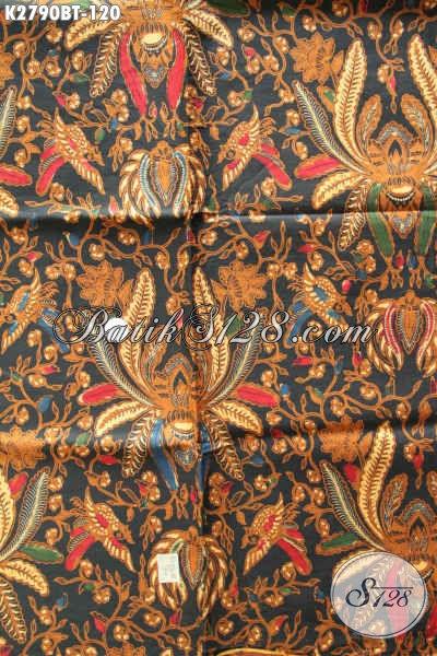 Kain Batik Klasik Solo Elegan Motif Wijaya Kusuma, Batik Halus Kombinasi Tulis Bahan Pakaian Kerja Nan Berkelas
