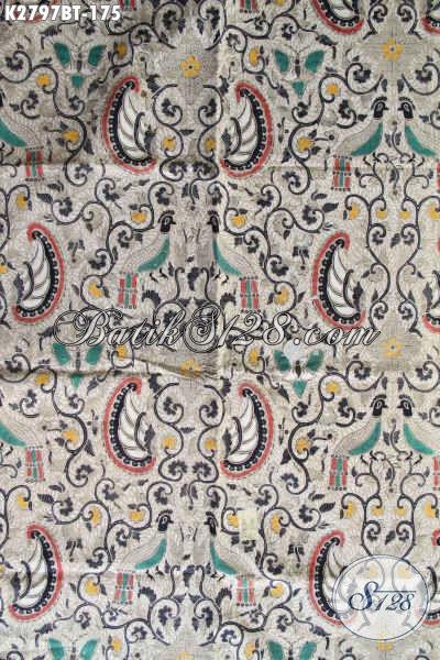 Produk Kain Batik Klasik Buatan Solo, Batik Halus Bahan Kemeja Pria Proses Kombinasi Tulis Harga 175K [K2797BT-240x110cm]