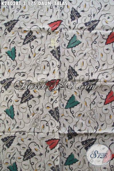Jual Online Grosir Dan Eceran Kain Batik Klasik, Batik Halus Proses Kombinasi Tulis Motif Daun Talas Harga 175K