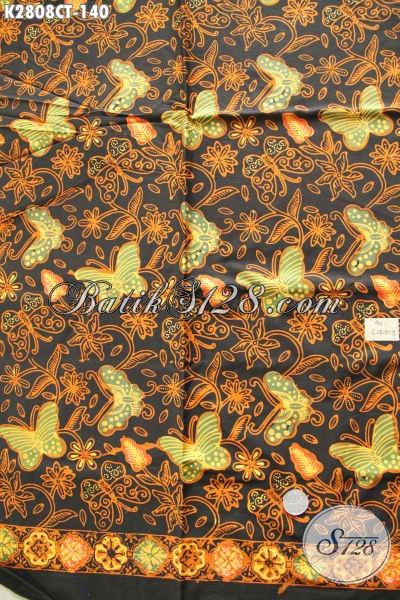 Produk Kain Batik Terkini, Batik ELegan Bahan Pakaian Nan Istimewa Harga Terjangkau Proses Cap Tulis Pas Untuk Busana Santai Dan Resmi [K2808CT-200x110cm]