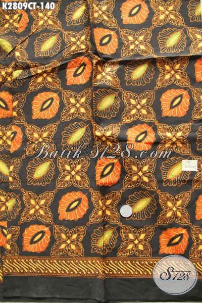 Online Shop Batik Komplit, Sedia Kain Batik Solo Halus Motif Mewah Warna Berkelas Cocok Untuk Kemeja Pria [K2809CT-200x110cm]