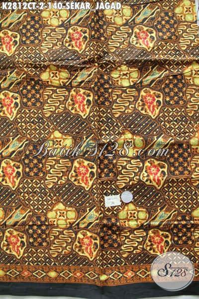Batik Klasik Sekar Jagad Halus Proses Cap Tulis Bahan Busana Formal Dan Elegan [K2812CT-200x110cm]
