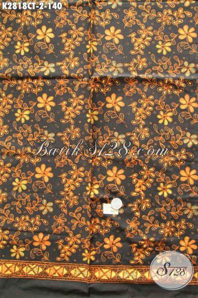 Tempat Beli Batik Online Terpercaya, Sedia Kain Batik Elegan Warna Klasik Motif Unik Proses Cap Tulis Hanya 140K [K2818CT-200x110cm]