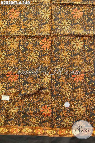 Kain Batik Kekinian Motif Bagus Warna Elegan, Batik Solo Halus Proses Cap Tulis Hanya 140 Ribu [K2820CT-200x110cm]