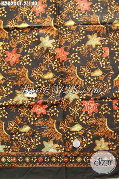 Kain Batik Klasik Elegan Motif Bunga, Batik Jawa Tengah Cap Tulis Harga 140K Untuk Pakaian Wanita Nan Istimewa