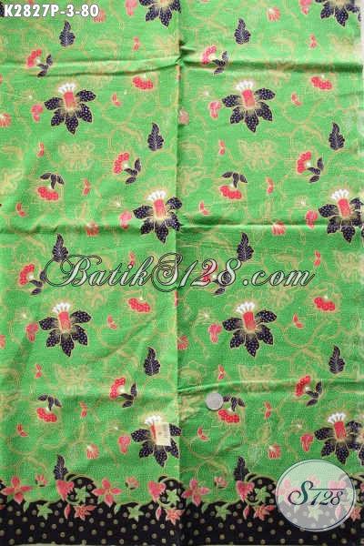 Jual Kain Batik Warna Hijau Motif Trendy Spesial Buat Busana Wanita Muda Dan Dewasa Tampil Lebih Beda [K2827P-240x105cm]